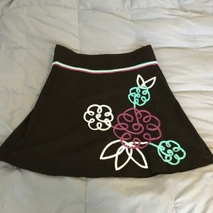 Juniors Black Mini Skirt